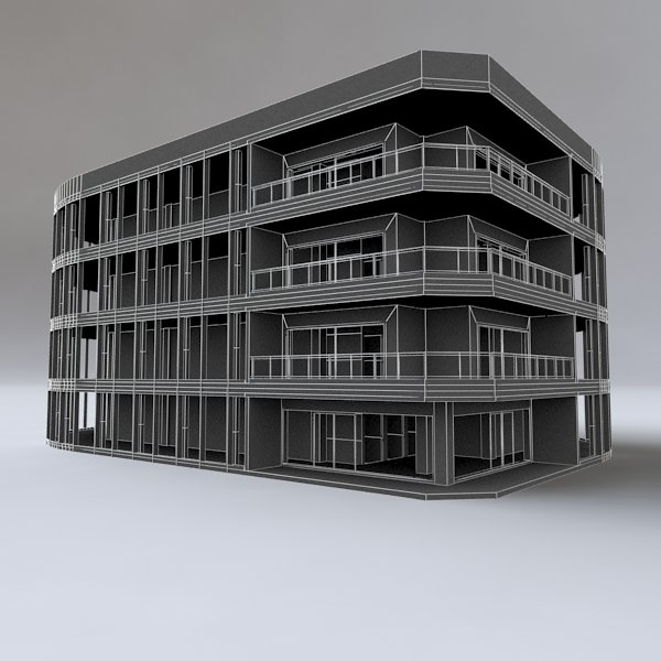 Miami Building 3D Model in Buildings 3DExport