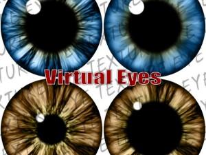 Cartoon Eyes Texture