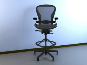 Aeron Work Stool Chair Herman Miller MAX 2011
