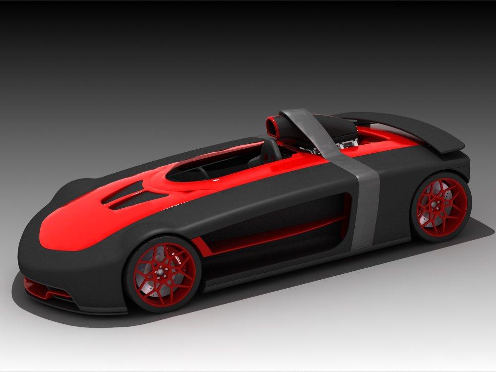 ONE SEAT CONCEPT CAR 3D Model in Sport Cars 3DExport