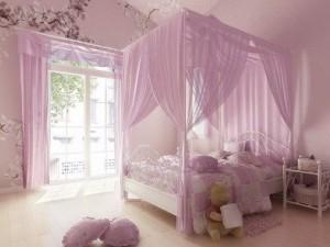Pink bedroom 3d model