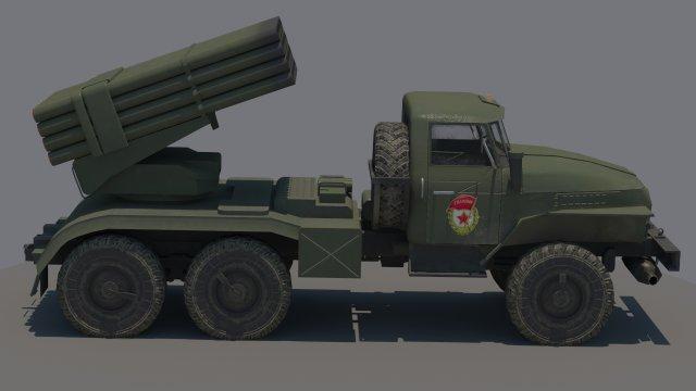 Ural BM21 Grad 3D Model
