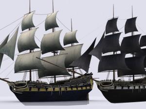 Sailing warship