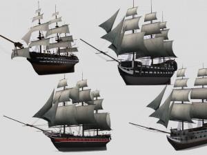 Military sailing ships