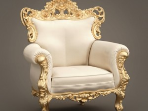 FB Armchair4 GOLD LEAF ARMCHAIR theme