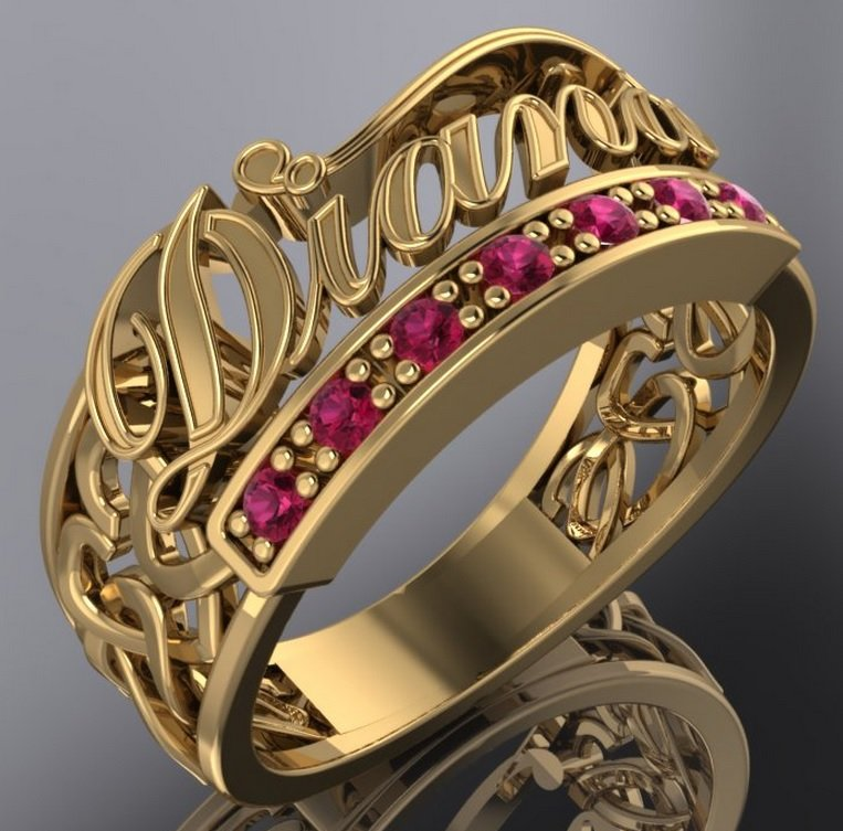 Ring Name Free 3D Model in Jewellery 3DExport