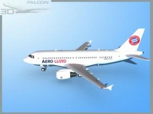 Falcon3D  A319 Aero Lloyd