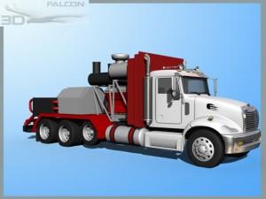 Falcon3D Fracking Pumper Truck