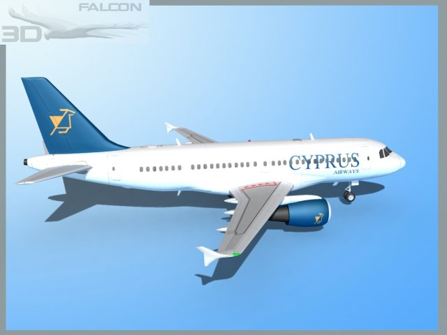 Falcon3D A319 Cyprus 3D Model