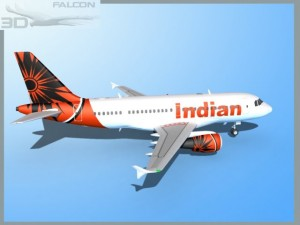 Falcon3D A319 Indian Airlines