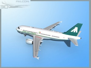 Falcon3D  A319 Mexicana Airlines