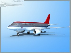 Falcon3D  A319  Northwest Airlines