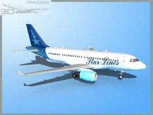 Falcon3D  A319 Star Lines
