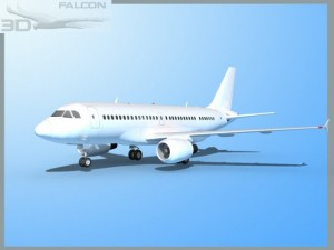 Falcon3D  A319  Unmarked 1