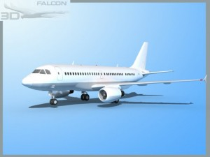 Falcon3D  A319  Unmarked 2