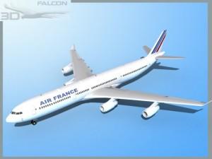 Falcon3D A340 600 Air France