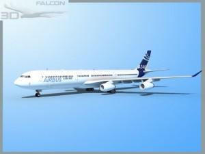 Falcon3D A340 600 Airbus2