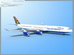 Falcon3D A340 600 British Airways
