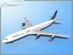Falcon3D A340 600 Egypt Air