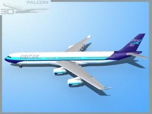 Falcon3D A340 600 First Air