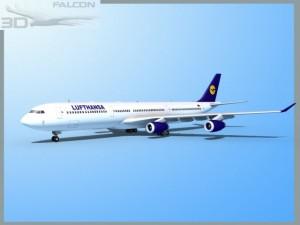 Falcon3D A340 600 Lufthansa