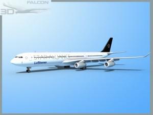 Falcon3D A340 600 Lufthansa Star