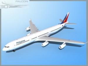 Falcon3D A340 600 Philippines Air