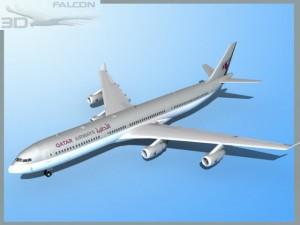 Falcon3D A340 600 Qatar