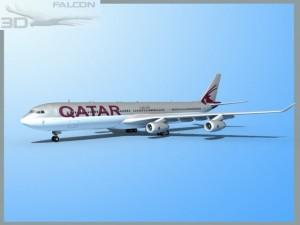 Falcon3D A340 600 Qatar 2