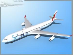 Falcon3D A340 600 Srilankan