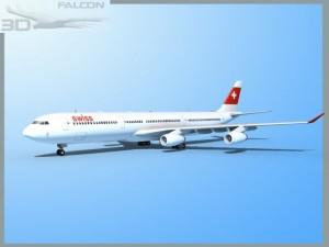 Falcon3D A340 600 Swiss Air