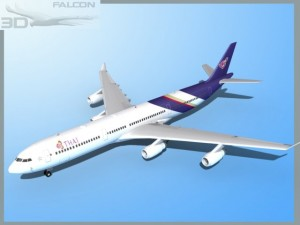 Falcon3D A340 600 Thai
