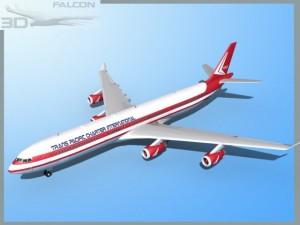 Falcon3D A340 600 Trans Pacific Charter