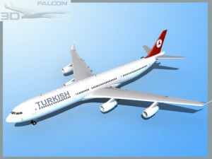 Falcon3D A340 600 Turkish Airlines