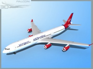 Falcon3D A340 600 Virgin Atlantic