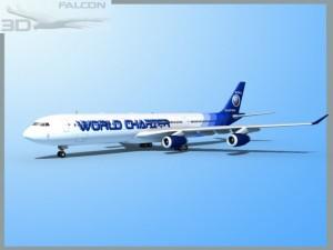 Falcon3D A340 600 World Charters
