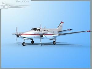 Falcon3D E90 King Air F01