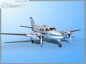 Falcon3D E90 King Air F02