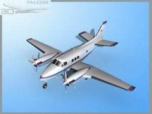 Falcon3D E90 King Air F04