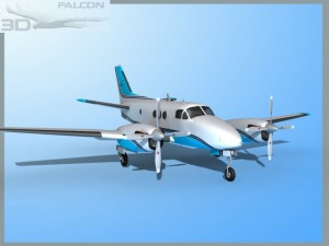 Falcon3D E90 King Air F08