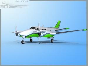 Falcon3D E90 King Air F09