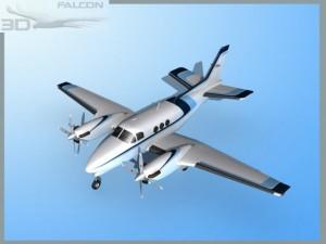 Falcon3D E90 King Air F10
