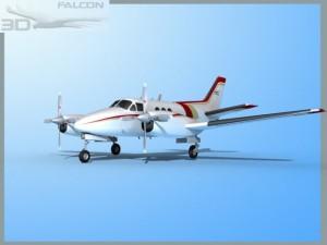 Falcon3D E90 King Air F12