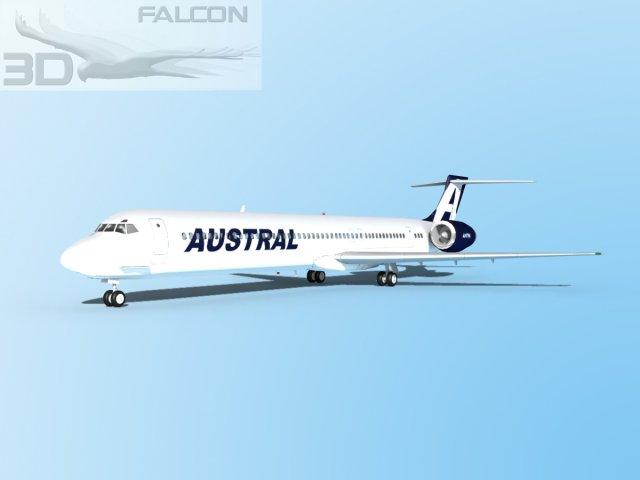 Falcon3D MD 80 Austral 3D Model