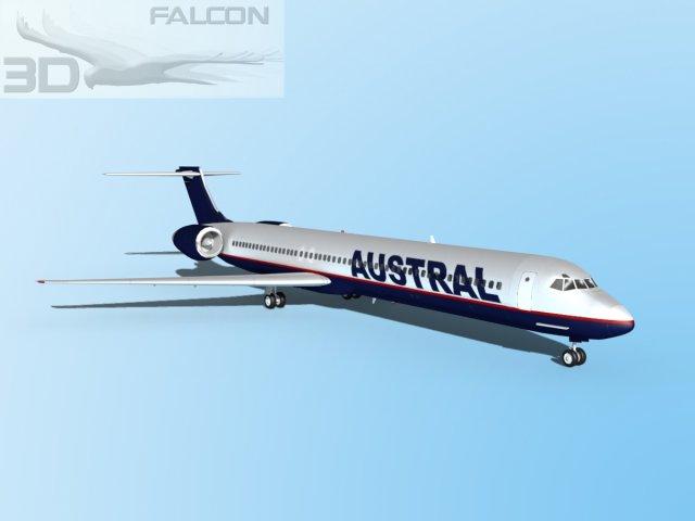 Falcon3D MD 80 Austral 2 3D Model