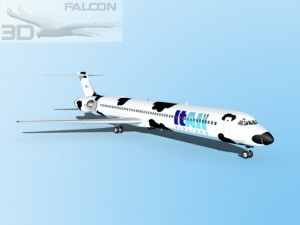 Falcon3D MD 80 Itali Airlines