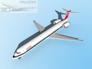 Falcon3D MD 80 Swissair