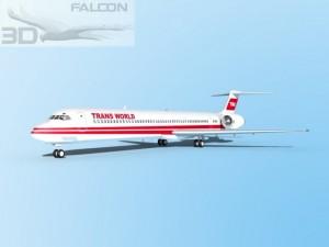Falcon3D MD 80 Trans World Airways
