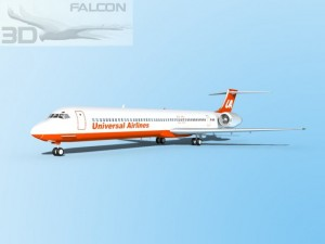 Falcon3D MD 80 Universal Airlines