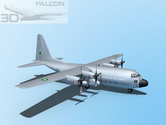 Falcon3D C130 Hercules  Pakistan 3D Model